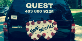 Wedding  limousine Calgary : Decorated by Quest Limos