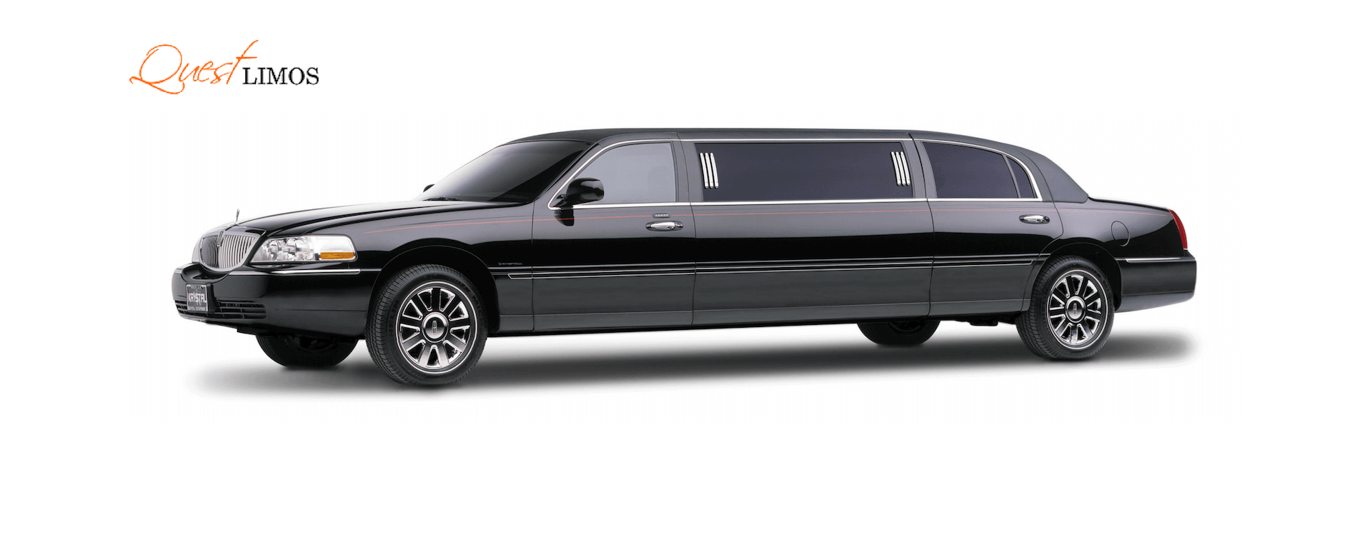 decoarted lincoln limo for wedding